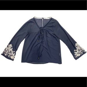 Jolt Navy Blouse